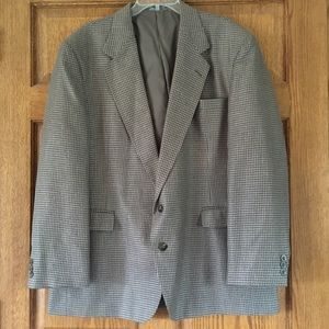 Haggar Clothing Brown Patterned Sport Coat